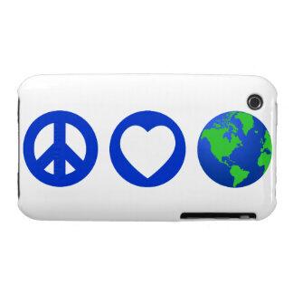 Peace Love Earth iPhone 3 Covers