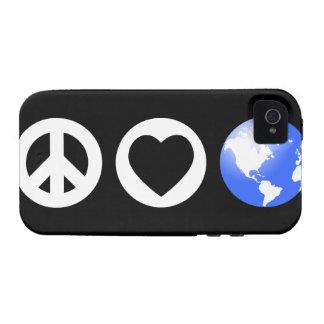 Peace Love Earth iPhone 4/4S Case
