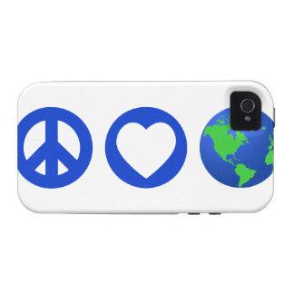 Peace Love Earth iPhone 4 Case