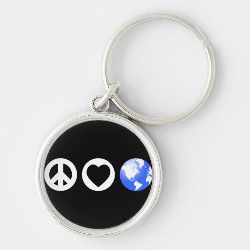 Peace Love Earth Key Chains