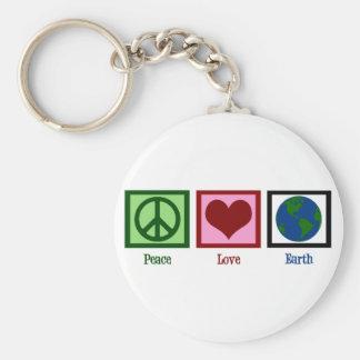 Peace Love Earth Key Ring