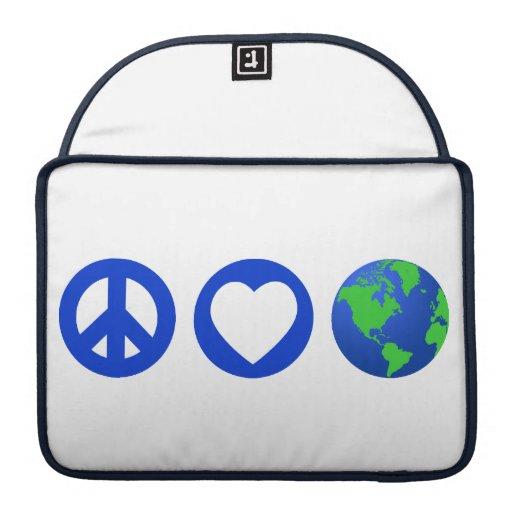 Peace Love Earth Sleeve For MacBooks