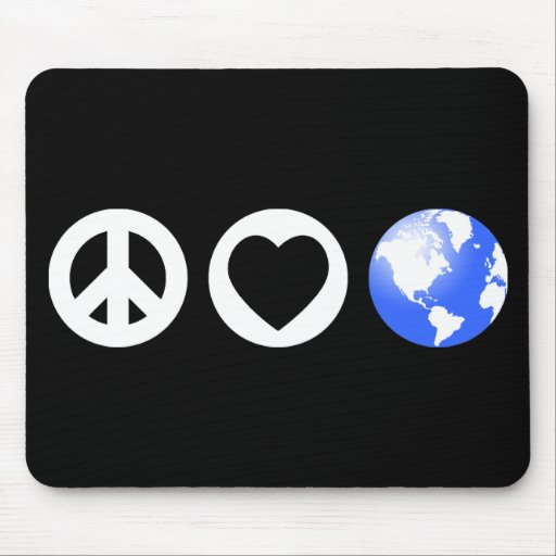 Peace Love Earth Mouse Pad