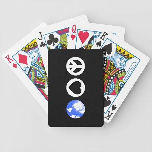 Peace Love Earth Bicycle Card Deck