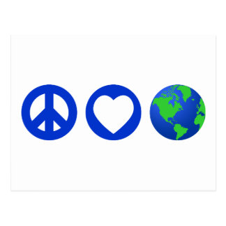 Peace Love Earth Postcard