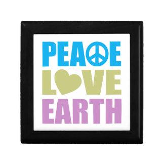 Peace Love Earth Trinket Boxes
