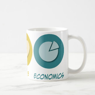 Peace Love Economics Coffee Mug