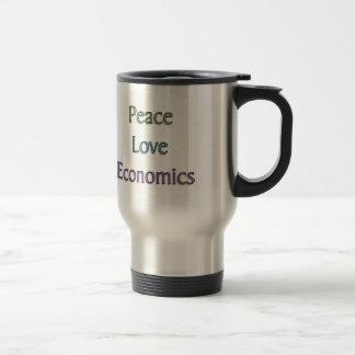 Peace, Love, Economics Stainless Steel Travel Mug