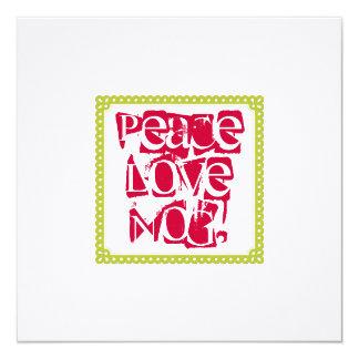 Peace Love Eggnog Holiday Drinks Invitations