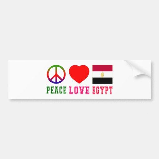 Peace Love Egypt Bumper Stickers
