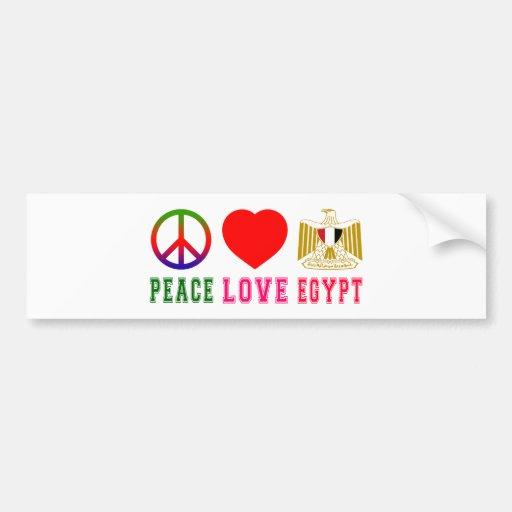 Peace Love Egypt Bumper Sticker