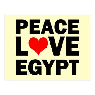 Peace love Egypt Post Card