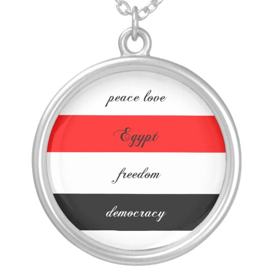 peace love Egypt Silver Plated Necklace