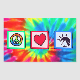 Peace, Love, Egyptians Rectangular Sticker
