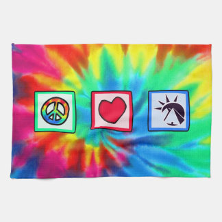 Peace, Love, Egyptians Tea Towel