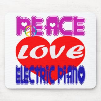 Peace Love electric piano Mousepad