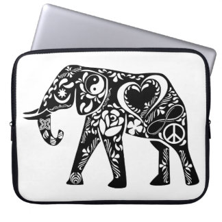 Peace Love Elephant Laptop Sleeve