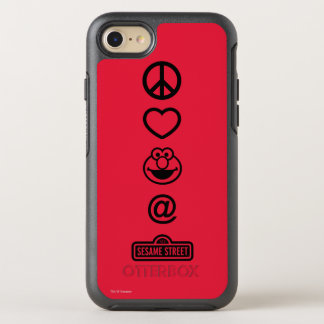 Peace Love Elmo OtterBox Symmetry iPhone 8/7 Case