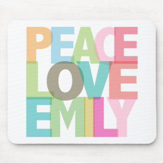 Peace Love Emily Personalized Tees & Gifts Mouse Mat