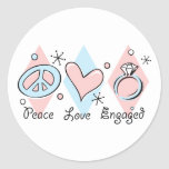 Peace Love Engaged Stickers