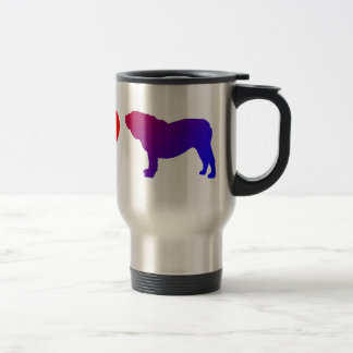 Peace Love English Bulldogs Travel Mug