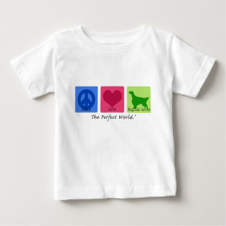 Peace Love English Setter Baby T-Shirt