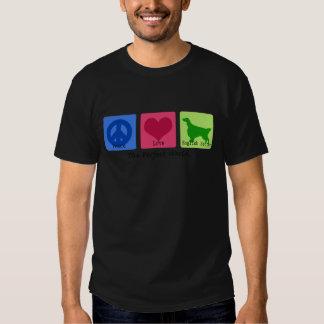 Peace Love English Setter T Shirts