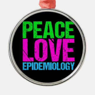 Peace Love Epidemiology Christmas Ornament