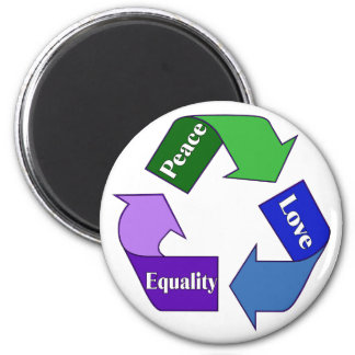 Peace Love Equality 6 Cm Round Magnet