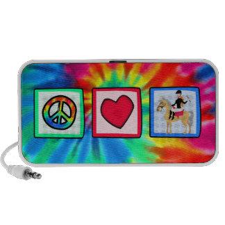 Peace Love Equestrian iPod Speakers