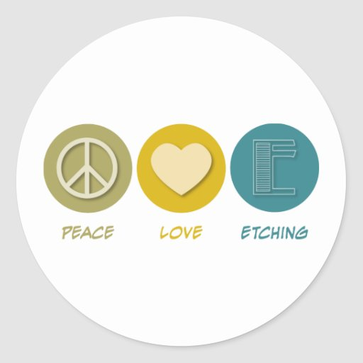 Peace Love Etching Sticker