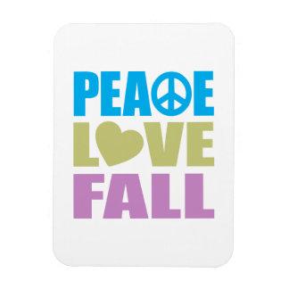 Peace Love Fall Rectangular Magnets