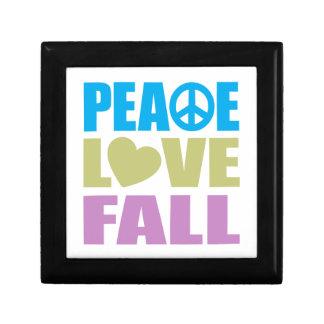 Peace Love Fall Trinket Boxes