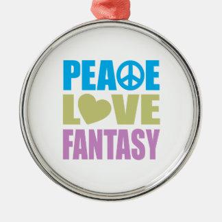 Peace Love Fantasy Christmas Ornament