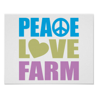 Peace Love Farm Print