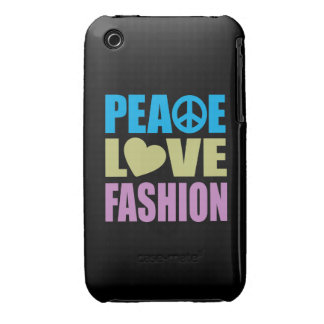 Peace Love Fashion Case-Mate iPhone 3 Cases