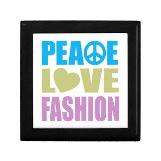Peace Love Fashion Small Square Gift Box