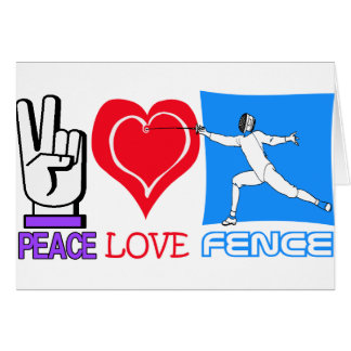 PEACE LOVE FENCE GREETING CARD