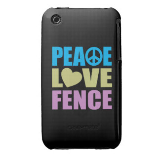 Peace Love Fence iPhone 3 Cover