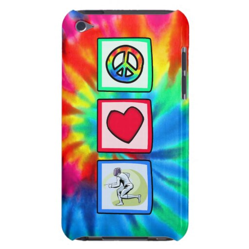 Peace, Love, Fencing Barely There iPod Cases