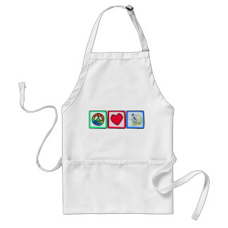 Peace, Love, Fencing Standard Apron