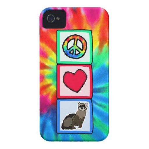Peace, Love, Ferrets iPhone 4 Case-Mate Cases