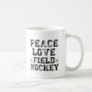 Peace, Love, Field Hockey Coffee Mug