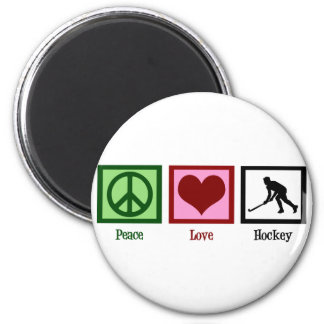 Peace Love Field Hockey Magnet