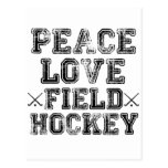 Peace, Love, Field Hockey Post Card