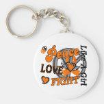 Peace Love Fight Like A Girl 2 MS Key Chain
