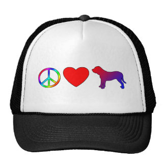 Peace Love Fila Brasileiros Hat