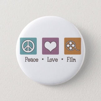 Peace Love Film 6 Cm Round Badge