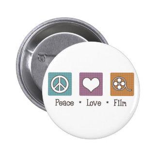 Peace Love Film 6 Cm Round Badge