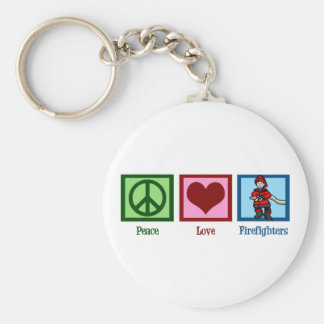 Peace Love Firefighters Key Ring